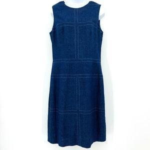 Maggy London Sleeveless Sheath Midi Dress